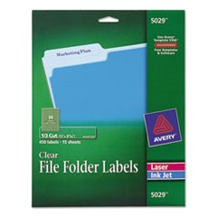 Avery(R) Clear Permanent File Folder Labels