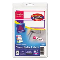 Avery(R) Flexible Self-Adhesive Mini Name Badge Labels