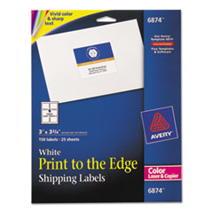 Avery(R) Vibrant Color Printing Mailing Labels