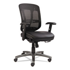 Alera(R) Eon Series Multifunction Mid-Back Leather/Mesh Chair