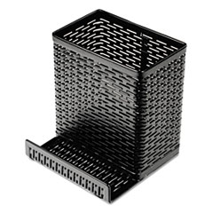 Artistic(R) Urban Collection Punched Metal Pencil Cup with Cell Phone Stand
