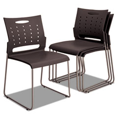 Alera(R) Continental Series Plastic Perforated Back Stack Chair