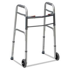 DMI(R) Two-Button Release Folding Walker with Wheels