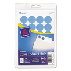 Avery(R) Printable Self-Adhesive Removable Color-Coding Labels