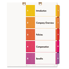 Avery(R) Preprinted Tab Dividers for Classification Folders