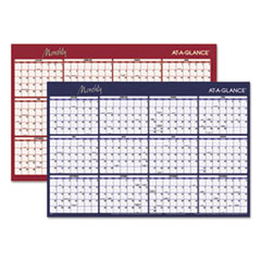 AT-A-GLANCE(R) Reversible Horizontal Erasable Wall Planner