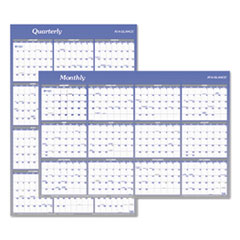 AT-A-GLANCE(R) Vertical/Horizontal Erasable Quarterly/Monthly Wall Planner