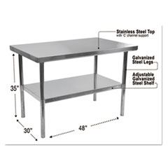 Alera(R) Stainless Steel Table