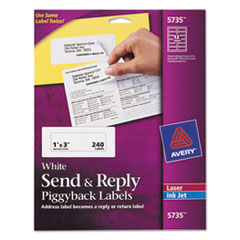 Avery(R) Send & Reply Piggyback Labels