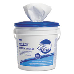 Wipers, Disinfect/Sanitize, 12 x 12 1/2, White, 90/Roll, 6/Carton