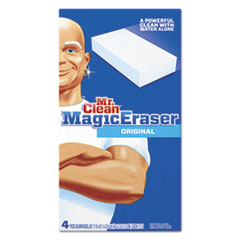 "Magic Eraser Foam Pad, 2 2/5"" x 4 3/5"", White, 4/Box"