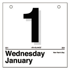 "AT-A-GLANCE(R) ""Today Is"" Daily Wall Calendar Refill"