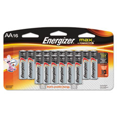 MAX Alkaline Batteries, AA, 16 Batteries/Pack