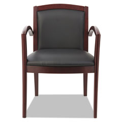 Alera(R) Reception Lounge 500 Series Arch Back Solid Wood Chair