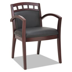 Alera(R) Reception Lounge 500 Series Arch Back Cut-Out Wood Guest Chair