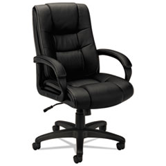 VL131 Series Executive High-Back Chair, Black Vinyl