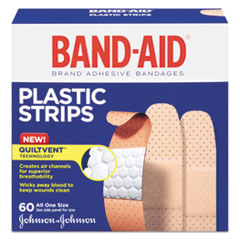 Plastic Adhesive Bandages, 3/4 x 3, 60/Box