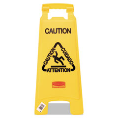 "Rubbermaid(R) Commercial Multilingual ""Caution"" Floor Sign"