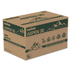 "ASPEN 30% Recycled Multi-Use Paper, 92 Bright, 20 lb, 8 ½"" x 11"", White, 5000 Sheets/Carton"