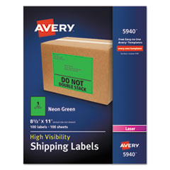 Avery(R) Neon Shipping Labels