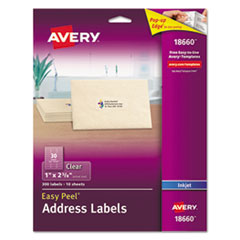 Avery(R) Matte Clear Easy Peel(R) Mailing Labels
