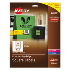 Avery(R) Square Print-to-the-Edge Labels