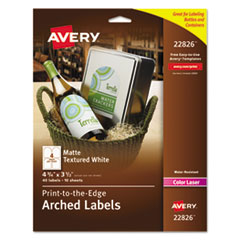 Avery(R) Textured Arched Print-to-the-Edge Labels