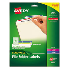 Avery(R) Removable File Folder Labels