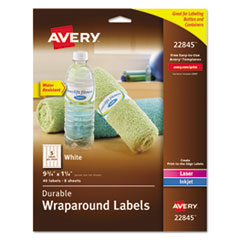 Avery(R) Durable Water-Resistant Wraparound Labels