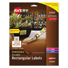 Avery(R) Removable Durable White Rectangle Labels