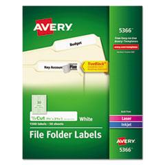 Avery(R) Permanent File Folder Labels with TrueBlock(R) Technology