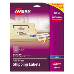 Avery(R) Matte Clear Shipping Labels