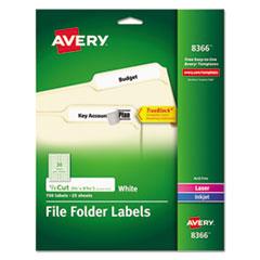 Avery(R) Permanent File Folder Labels with TrueBlock(R) Technology