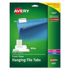 Avery(R) Printable Hanging File Tabs