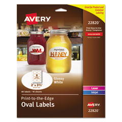 Avery(R) Oval Print-to-the-Edge Labels