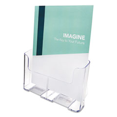 DocuHolder for Countertop/Wall-Mount, Magazine, 9.25w x 3.75d x 10.75h, Clear