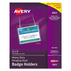 Avery(R) Heavy-Duty Secure Top(TM) Name Badge Holders