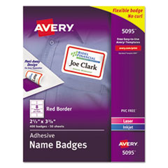 Avery(R) Flexible Self-Adhesive Name Badge Labels
