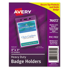 Avery(R) Heavy-Duty Secure Top(TM) Name Badge Holders