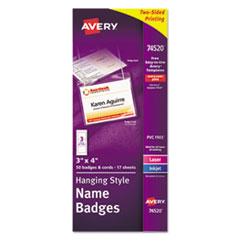 Avery(R) Hanging-Style Name Badges and Holders