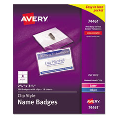 Avery(R) Name Badge Holders Kit with Inserts