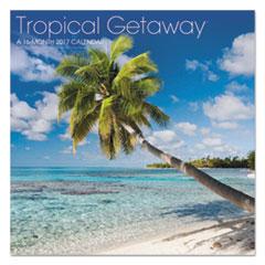 AT-A-GLANCE(R) Landmark(R) Tropical Getaway(TM) Wall Calendar