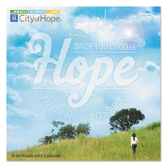 AT-A-GLANCE(R) Day Dream(R) City Of Hope Wall Calendar
