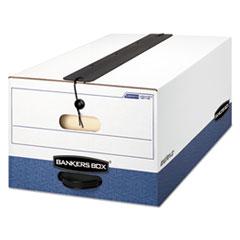 LIBERTY Plus Storage Box, Legal, String/Button, White/Blue, 12/Carton