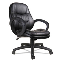 Alera(R) PF Series Mid-Back Leather Office Chair