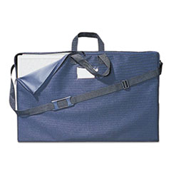 Tabletop Display Carrying Case, Canvas, 18 1/2w x 2 3/4d x 30h, Black