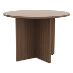 Alera(R) Valencia(TM) Series Round Conference Tables with Straight Leg Base