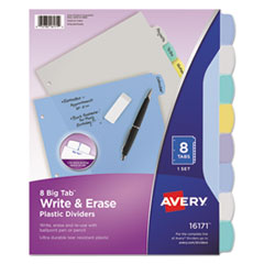 Avery(R) Write-On Big Tab(TM) Plastic Dividers