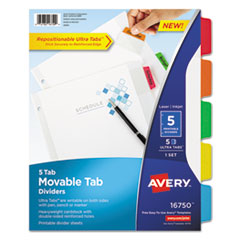 Avery(R) Movable Tab Dividers with Color Tabs