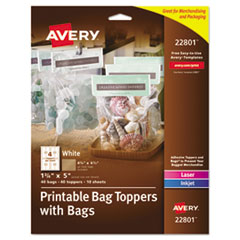Avery(R) Printable Bag Toppers with Bags